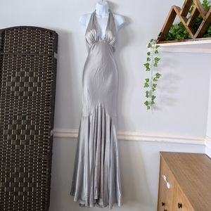 Silver Formal Mermaid Cache Dress